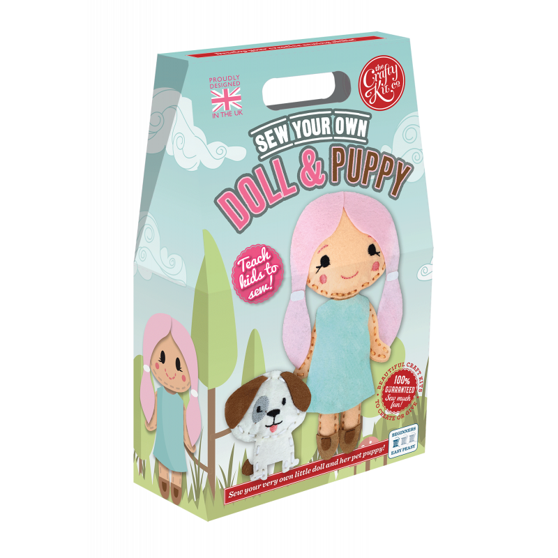 CKC-SK-112 Sew Your Own Puppy & Doll Boxed Kit