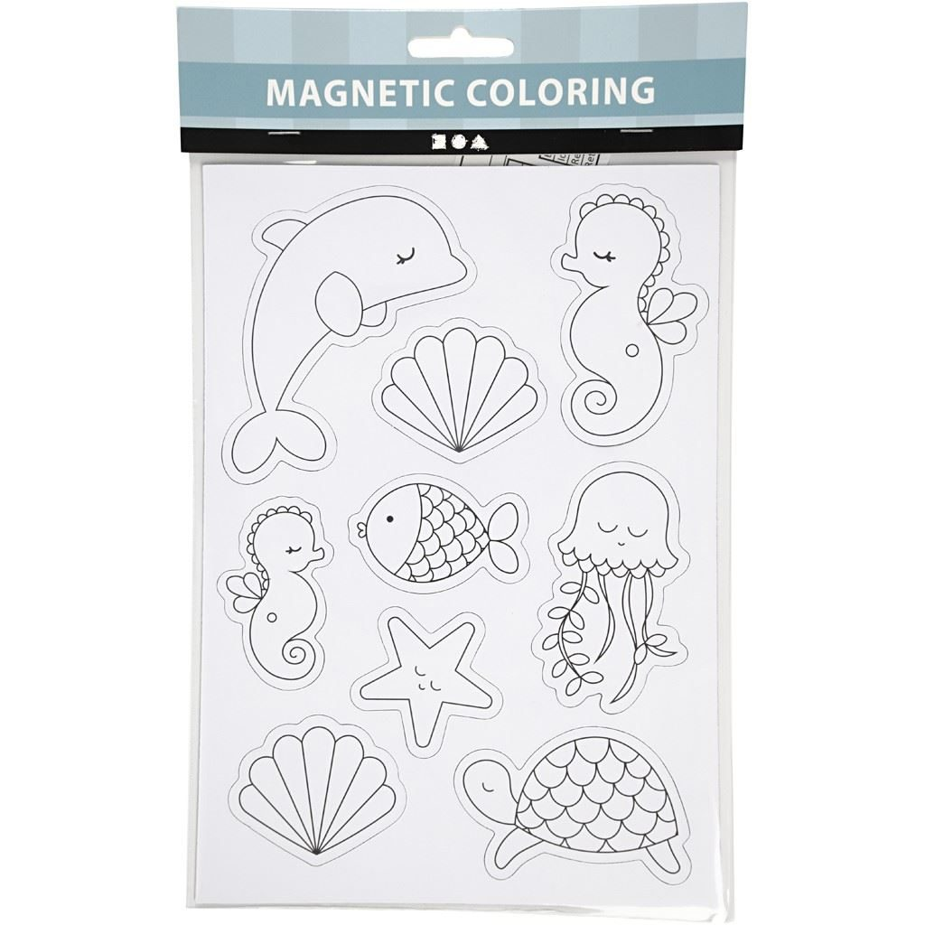 Ocean Magnets- Magnetic Colouring Sheet pack