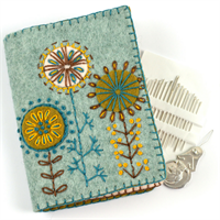Needle Case Embroidery Kit completed