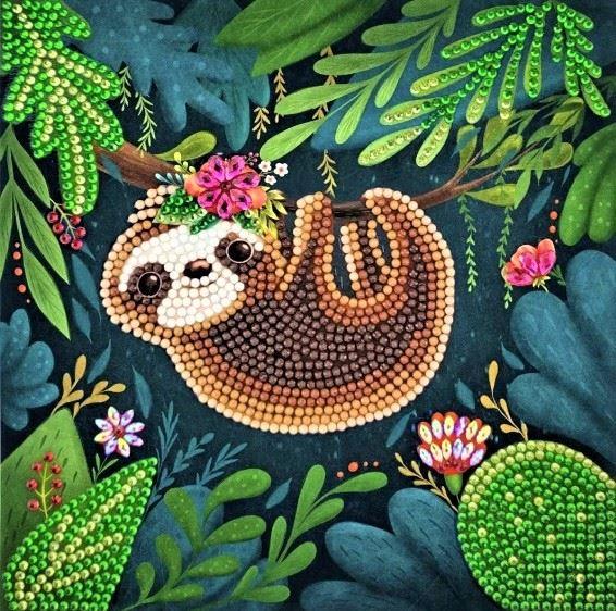 CCK-A54 Sloth Crystal Art Card Kit