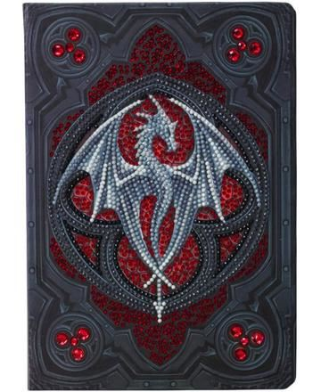 CANJ-10- Valour Alter Drake - Anne Stokes Crystal Art Notebook complete