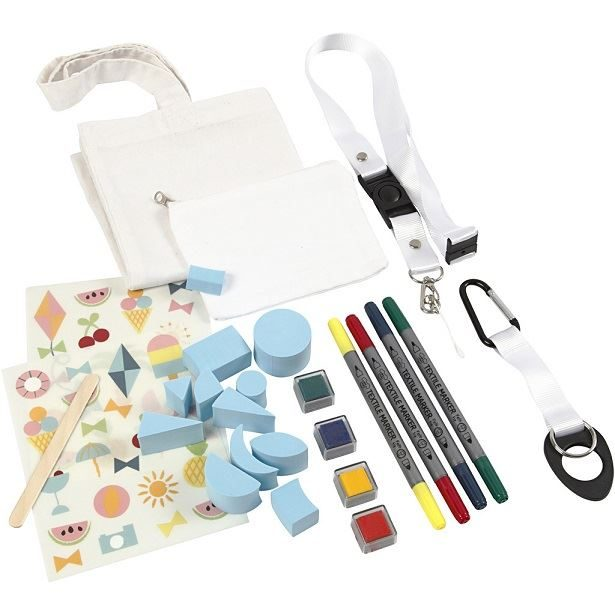 CH97066 DIY Summer Fun Fabric Painting Kit contents2