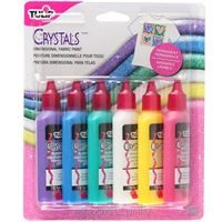 Dimensional Fabric Paint Crystals 6 Pack by Tulip