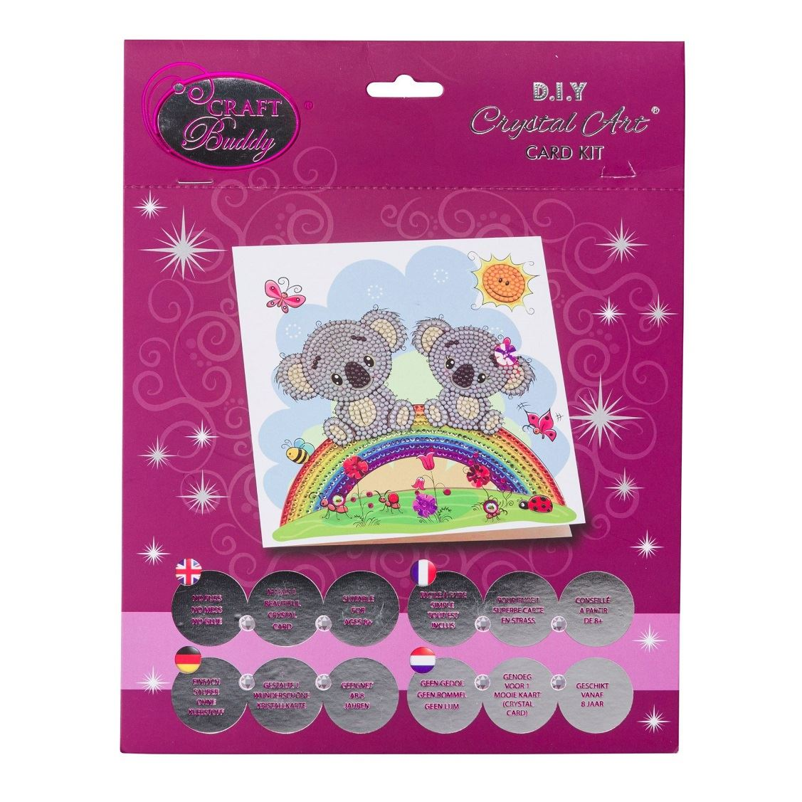 CCK-A47 Koala Rainbow Crystal Art Kit pack