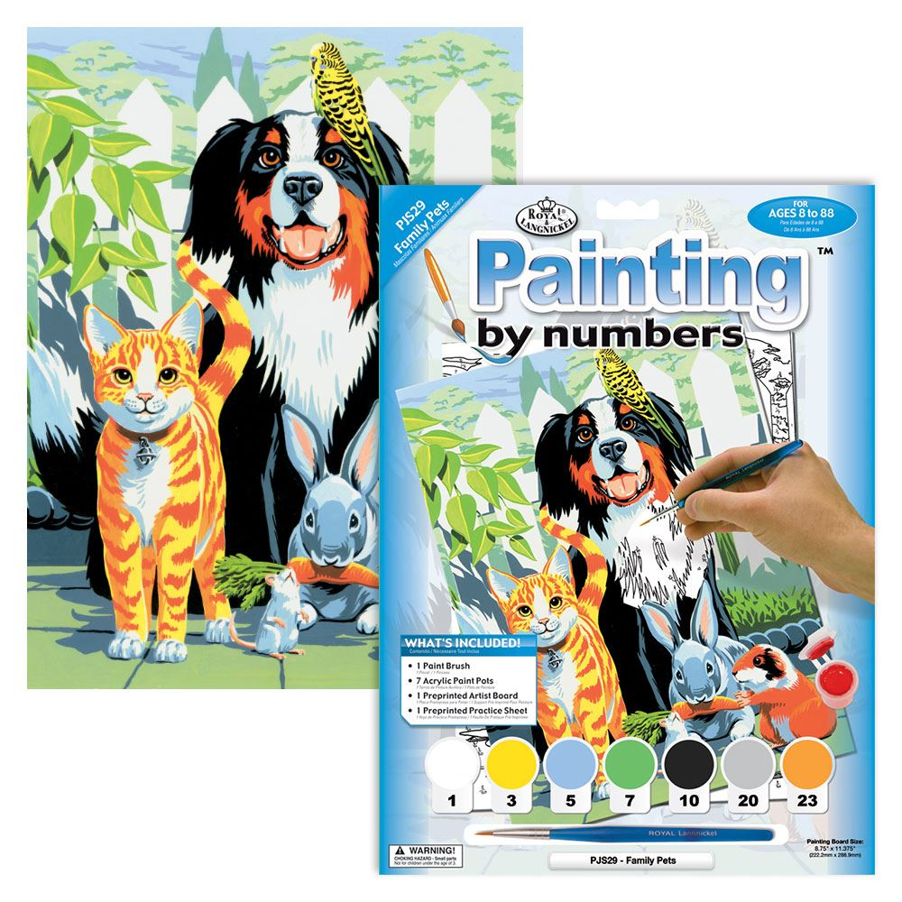 PJS29 Family Pets Painting By Numbers Kit