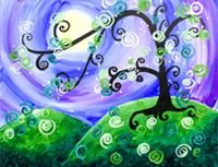 Whimsical Tree- Canvas Design Pattern Pack