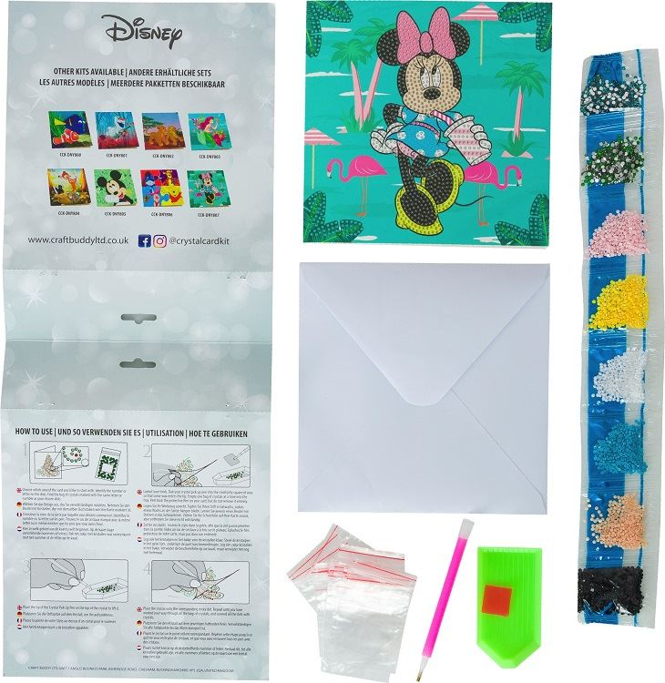 Minnie on Holiday - Disney Crystal Art Card Kit