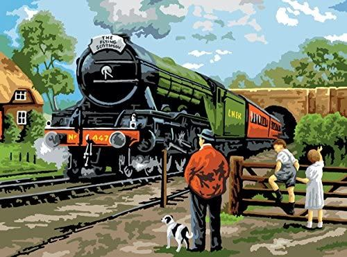 PAL15 Steam Train Painting by Numbers Kit completed