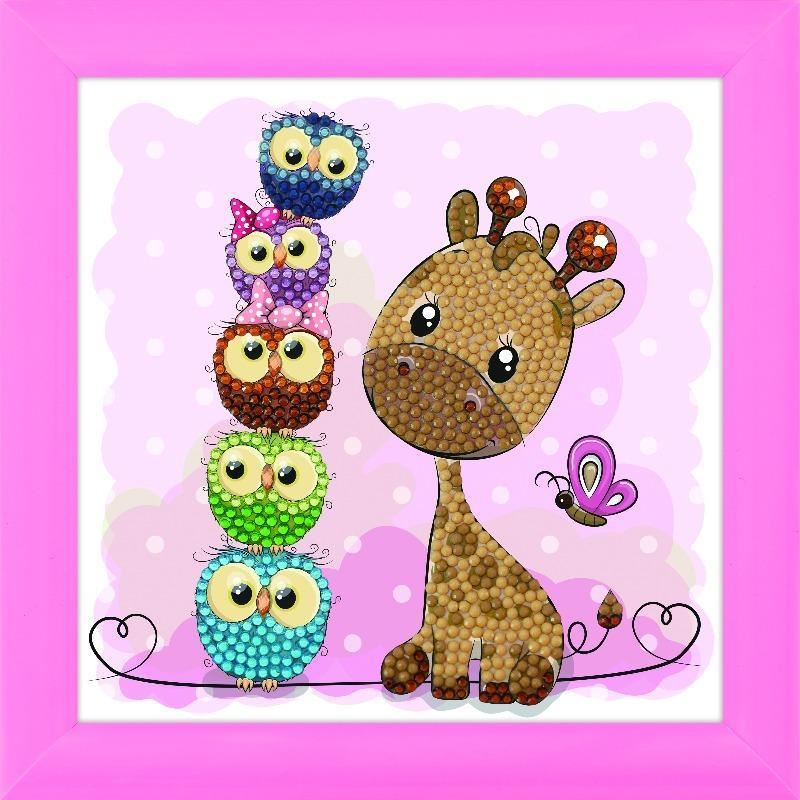 CAFBL-8 Giraffe & Friends Frameable Crystal Art Kit