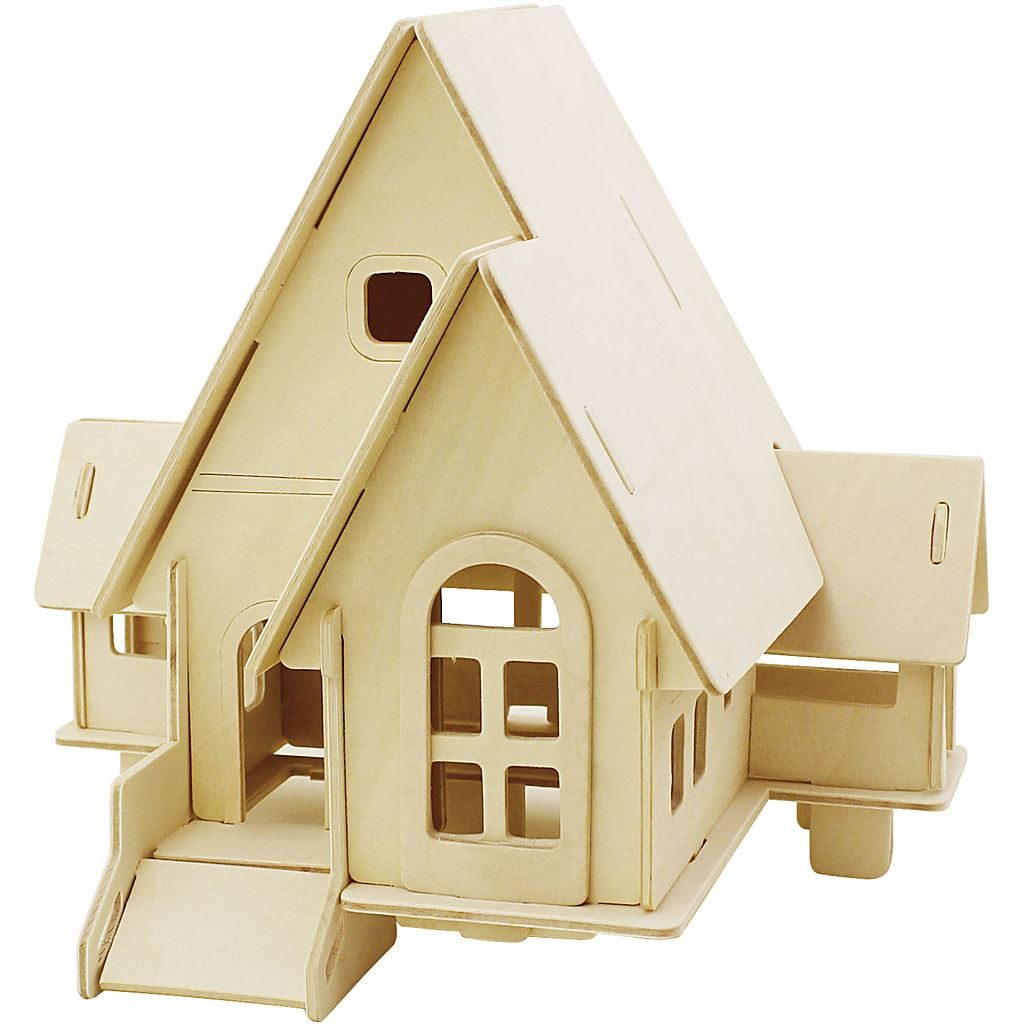 CH57874 Wooden House with Ramp Construction Kit
