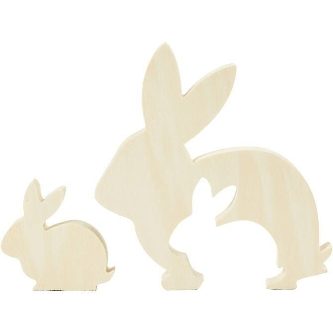 CH57900 Wooden Bunny Figure for decorating