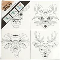 CH22777 Stretched Canvas 4 Pack- Animals
