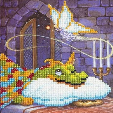 CCK-A6 Dragon and the Cookie Fairy Crystal Art Card Kit