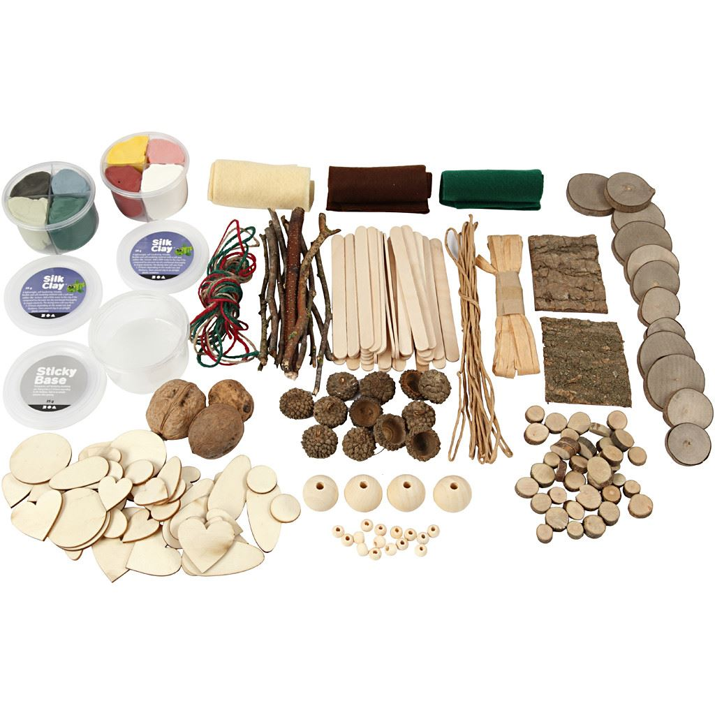Nature Creative Box Set (Silk Clay) inner contents