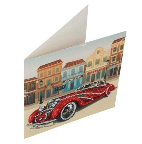 Classic Car - Crystal Art Card Kit 18cm