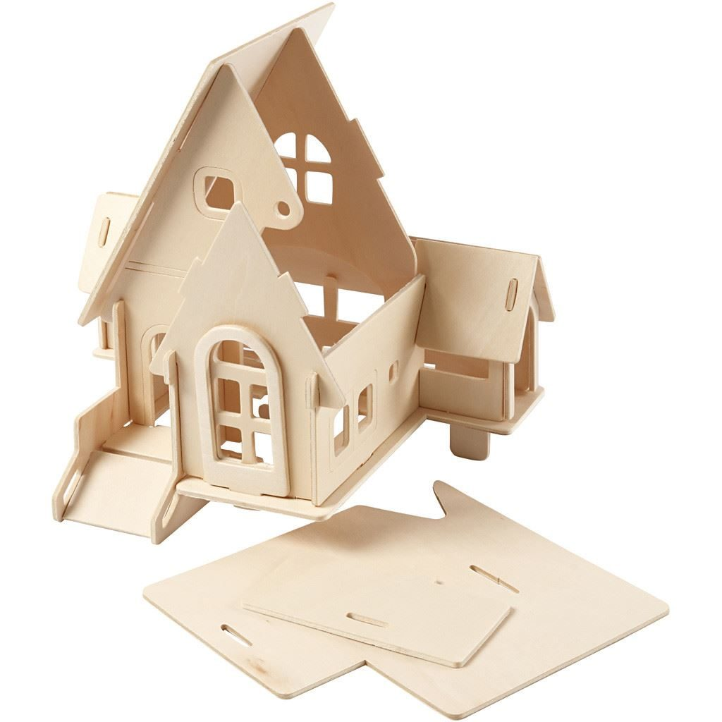 CH57874 Wooden House with Ramp Construction Kit pieces(2)