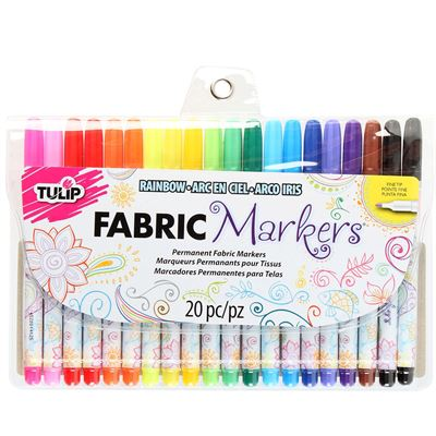 28976 Fine Tip Fabric Markers - Multi (20 pack) by Tulip