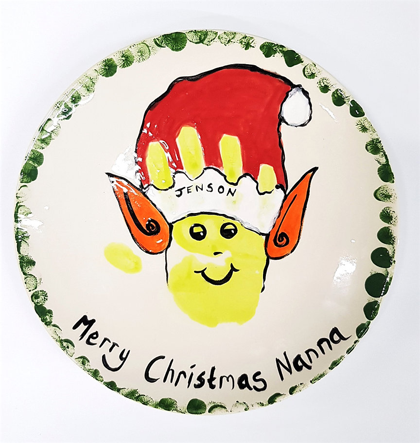 Coupe Dinner Plate with Elf Design