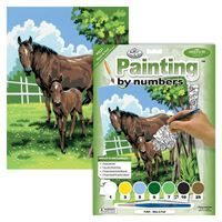 PJS21-Mare and Foal Painting by Numbers Kit