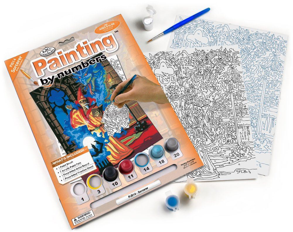 PJS14 Sorcerer Painting by Numbers kit