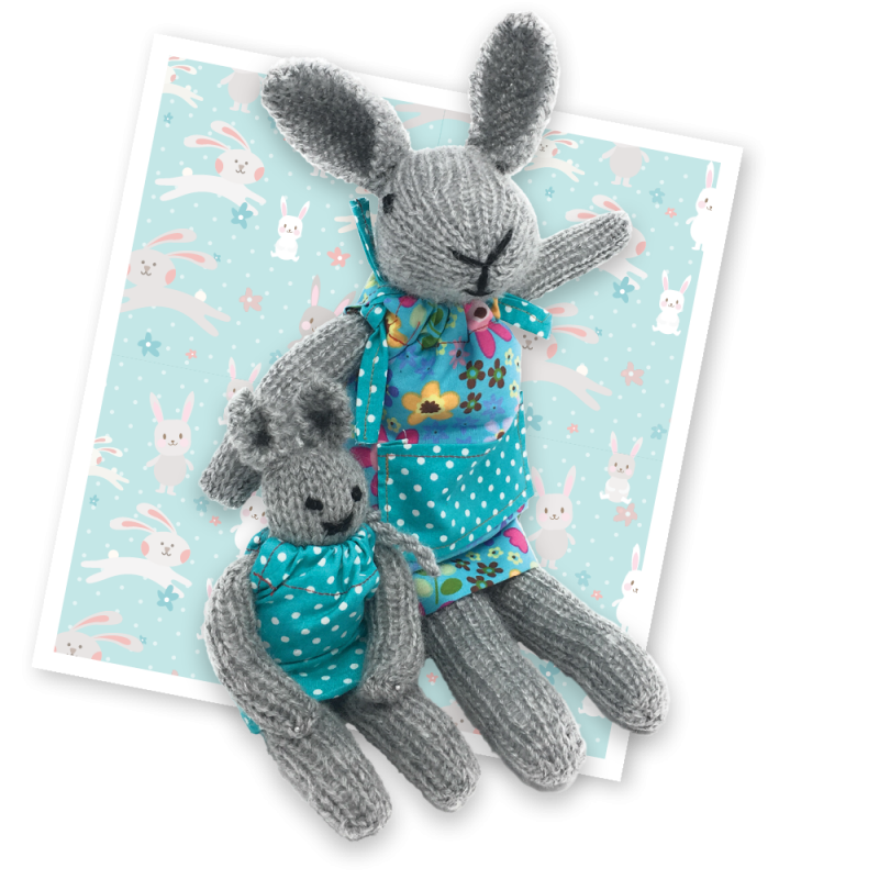 Knit Your Own Bunnies Knitting Kit