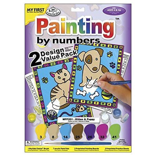 MFP201 My First Painting by Numbers- Kitten and Puppy
