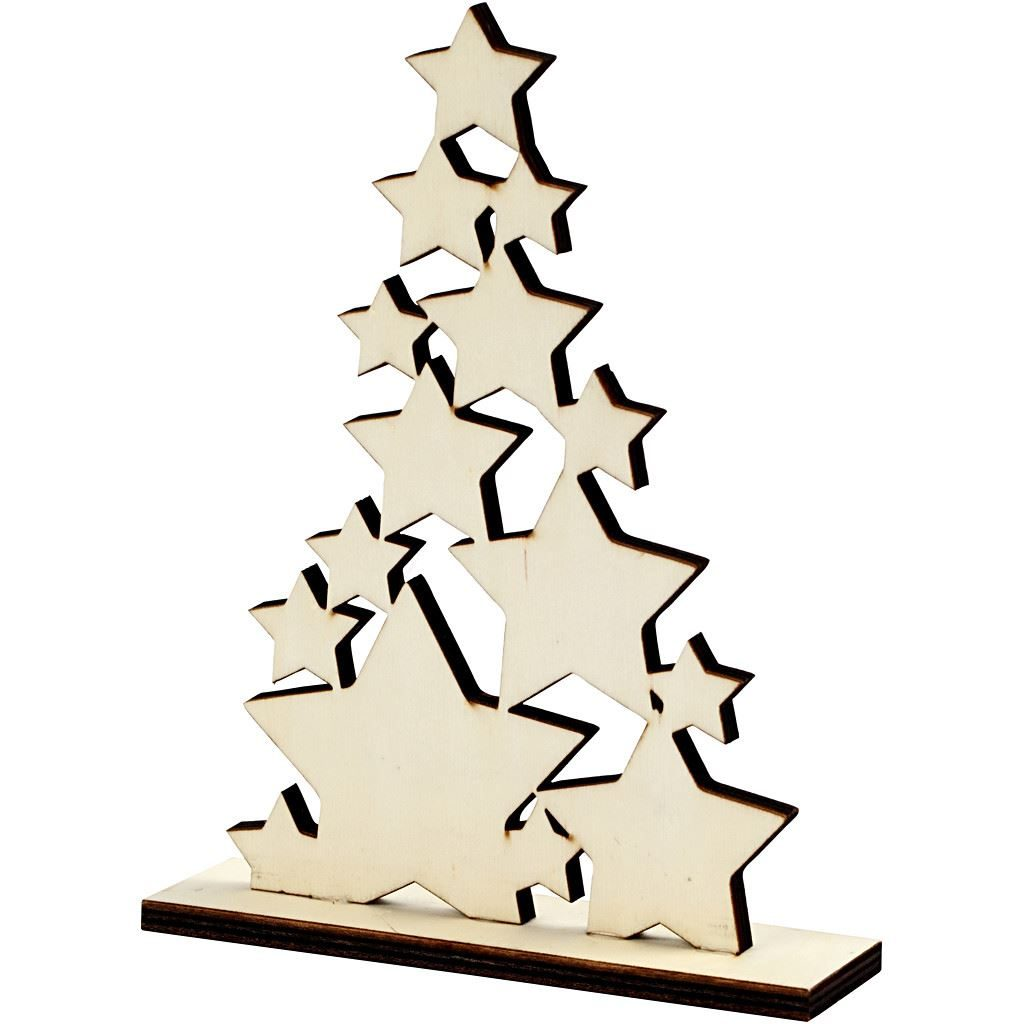CH56924 Wooden Christmas Tree for Arts and Crafts