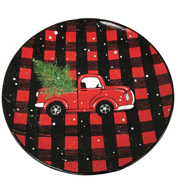 1005 Coupe Plate with Christmas Truck Design