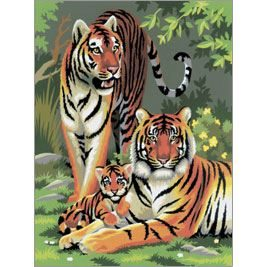 Tigers - Painting by Numbers PJS27