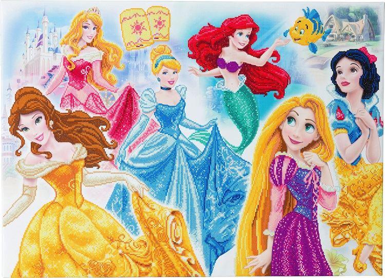 CAK-DNY708XL Disney Princess Medley, 90x65cm Disney Crystal Art Kit (full)