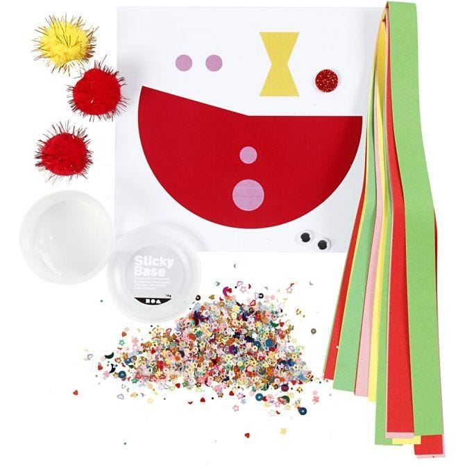 CH977432 Mini Creative Craft Kit - Toilet Roll Funny Clown, contents