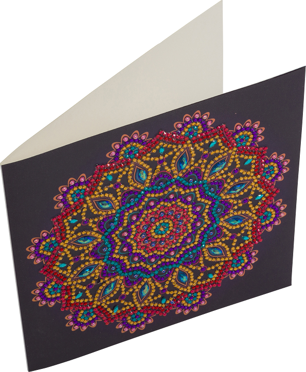 Purple Mandala - Crystal Art Card Kit 18 x 18cm