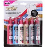 17581 Metallics Dimensional Fabric Paint by Tulip Pack