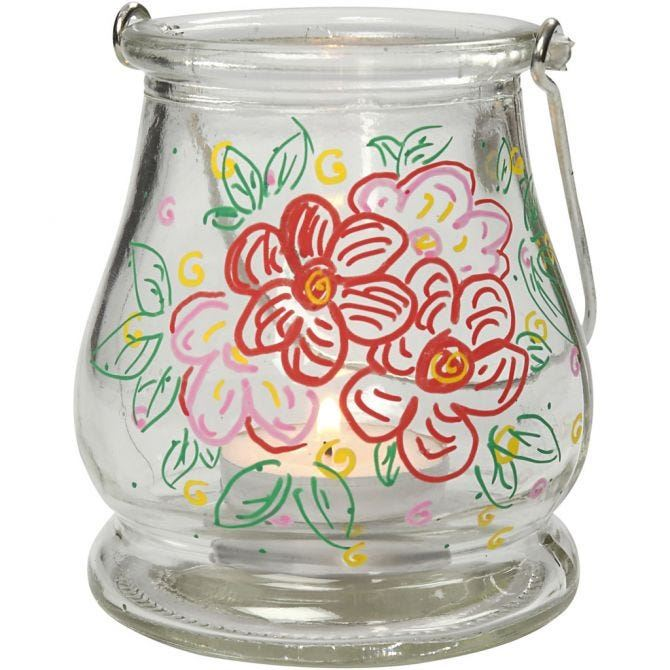 CH58556 Glass Lantern for decoration