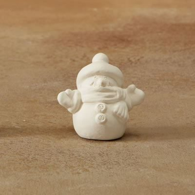 5212 Snowman Tiny Topper bisque