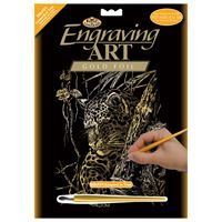 GOLF21-Leopard in Tree Engraving Kit Gold outer
