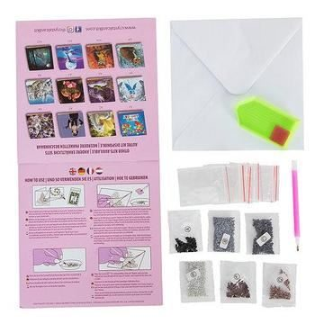 Crystal Art Card Kit contents