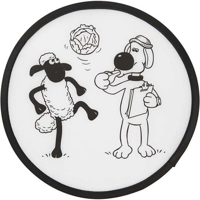 CH474314 Frisbee with design for decorating 25cm out of pack