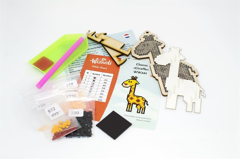 Example of Diamond Art Painting Kit contents