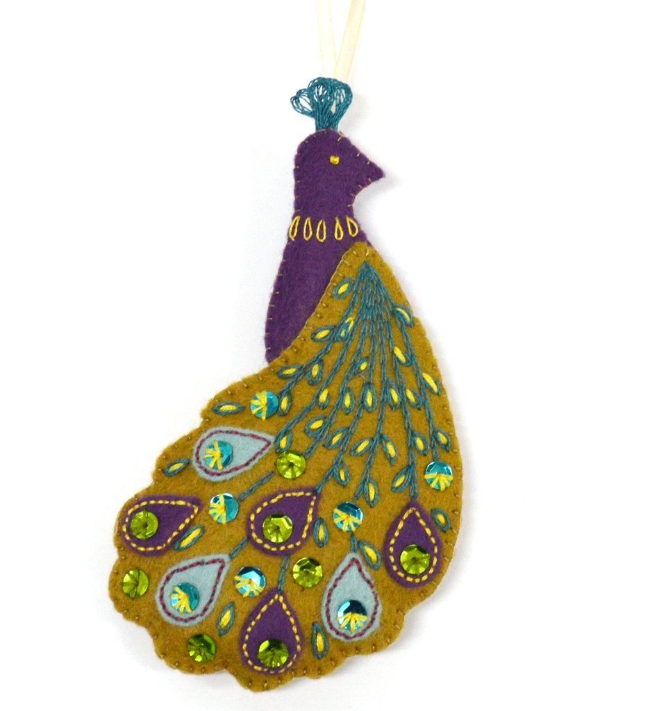 Pretty Peacock Embroidery Kit