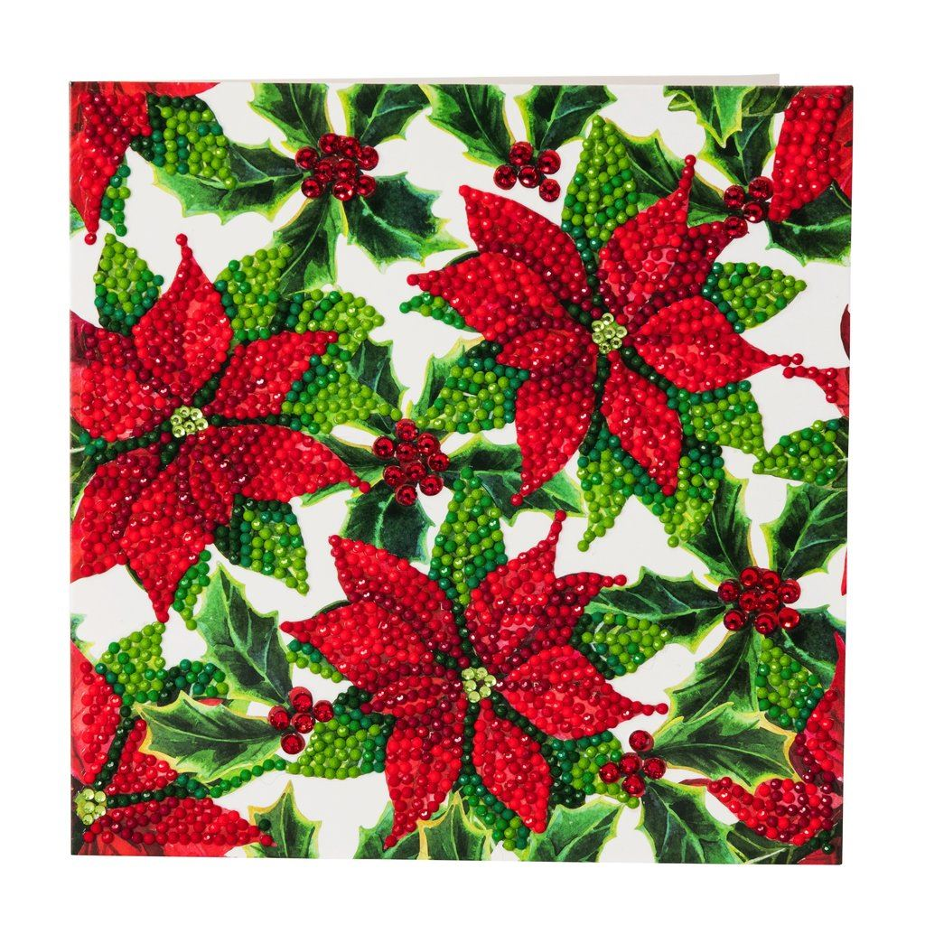 CCK-XM26 Poinsettias- Crystal Art Card Kit (18cm Card)
