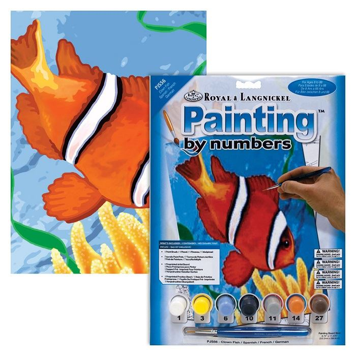 PJS56 Clown Fish Painting By Numbers Kit