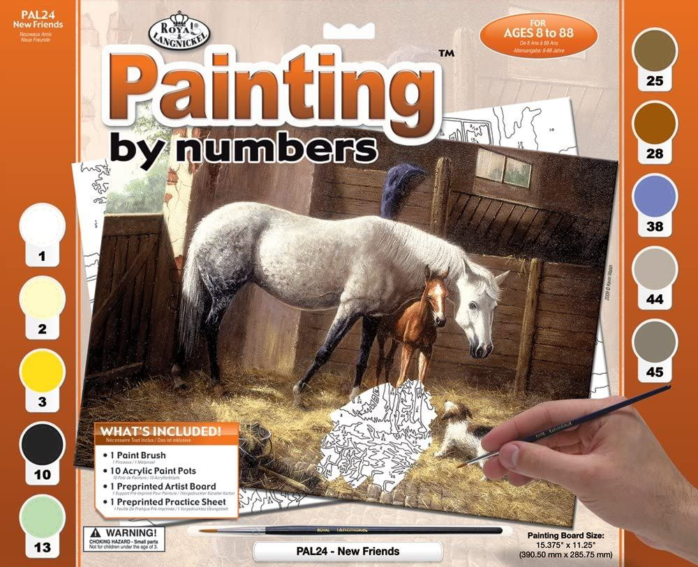 PAL24 New Friends Painting by Numbers Kit