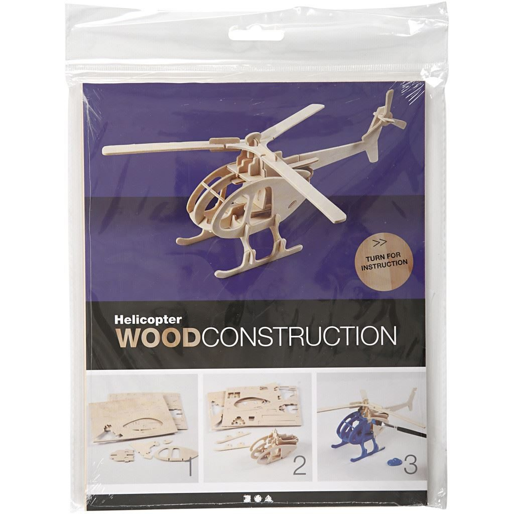 CH57857 3D Wooden Construction Kit - Helicopter (1)