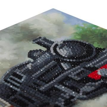 CCK-A43 Train Crystal Art Card Kit closeup