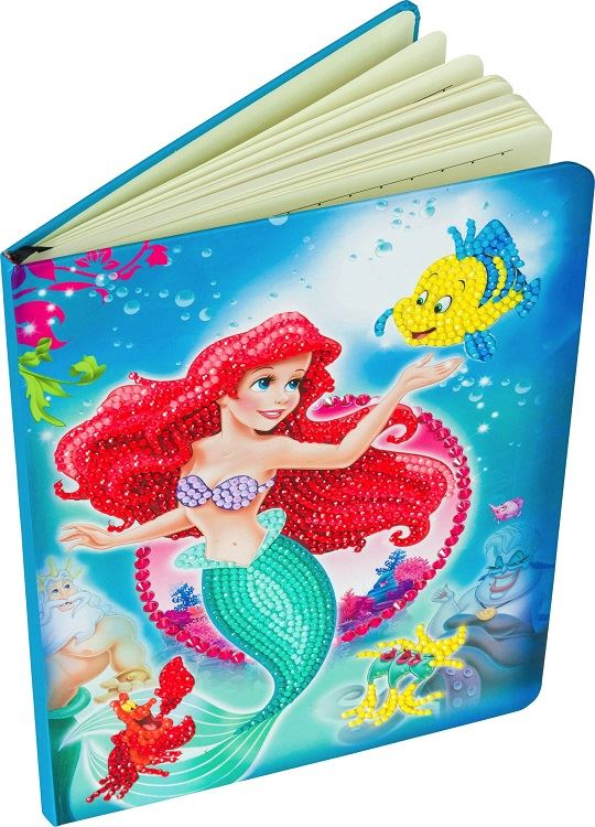 CANJ-DNY601 The Little Mermaid Disney Crystal Art Notebook Kit (front & pages)