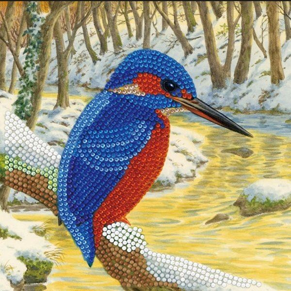 CCK-A66 Kingfisher Crystal Art Card Kit