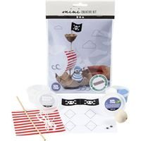 CH977433 Mini Creative Kit - Egg Box Pirate Ship, front and contents