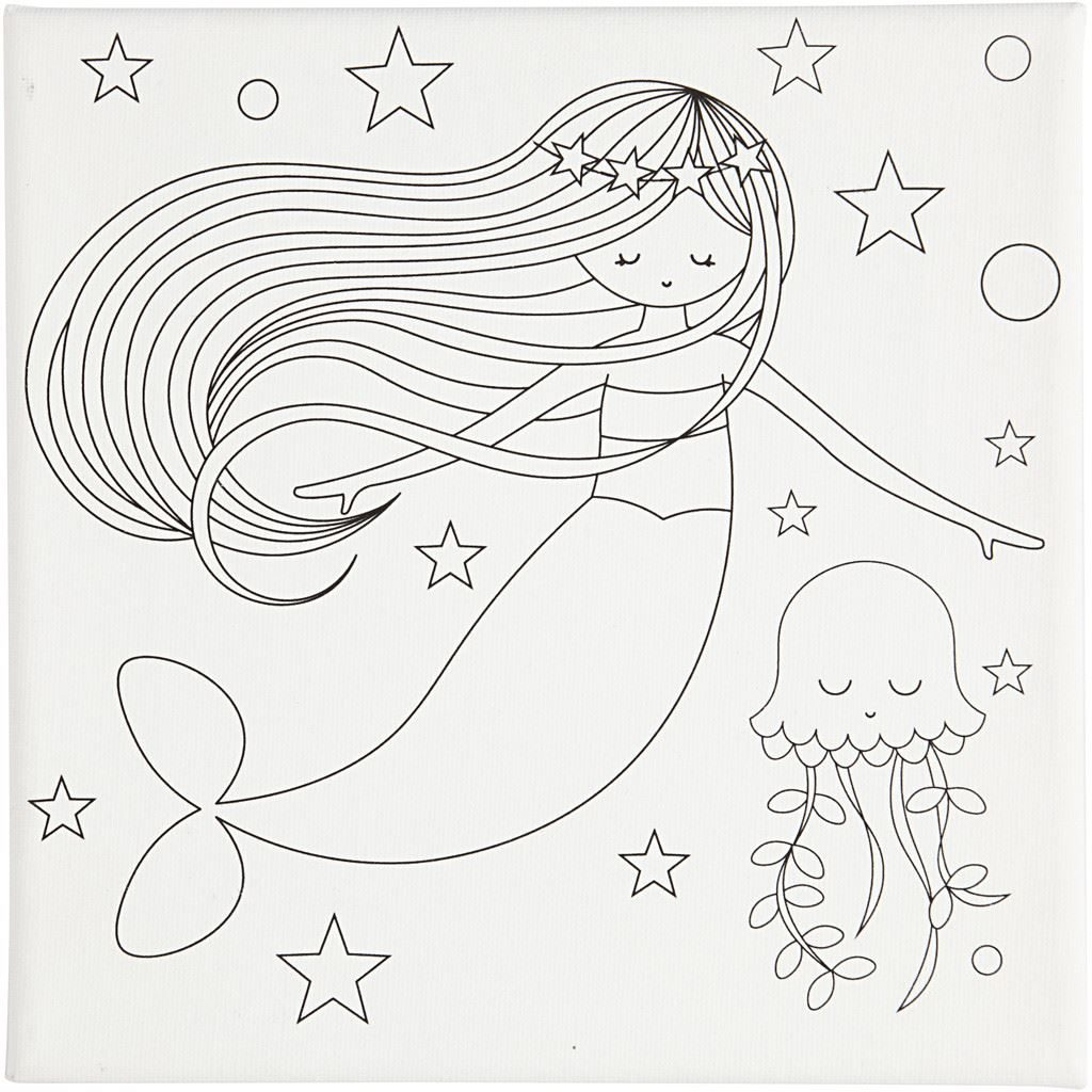 CH22794 Stretched Canvas Art Prints- Mermaids (2)