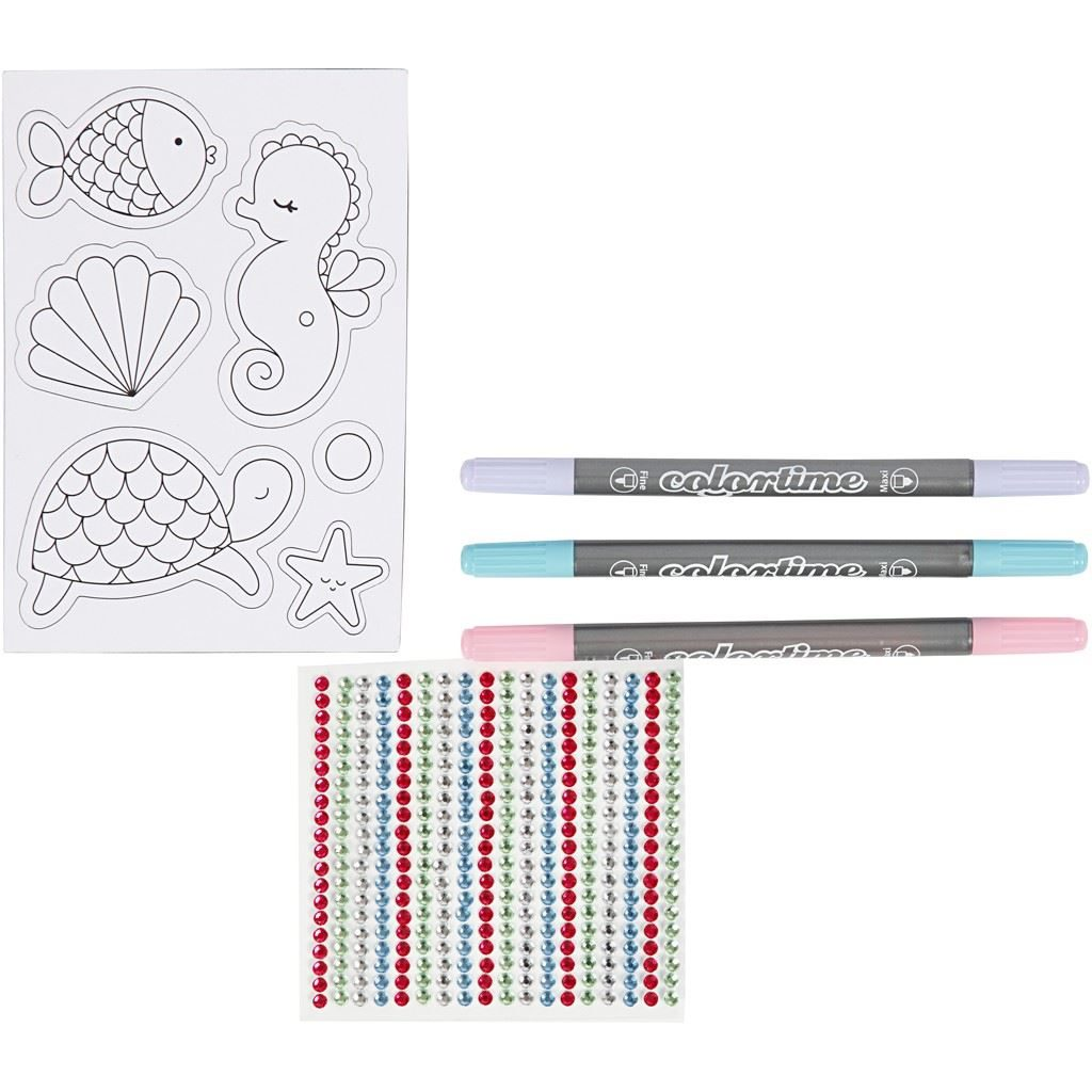 Under the Sea Magnetic Decoration Kit contents